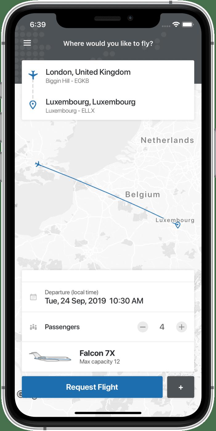 OpenJet Mobile Booking App Screenshot