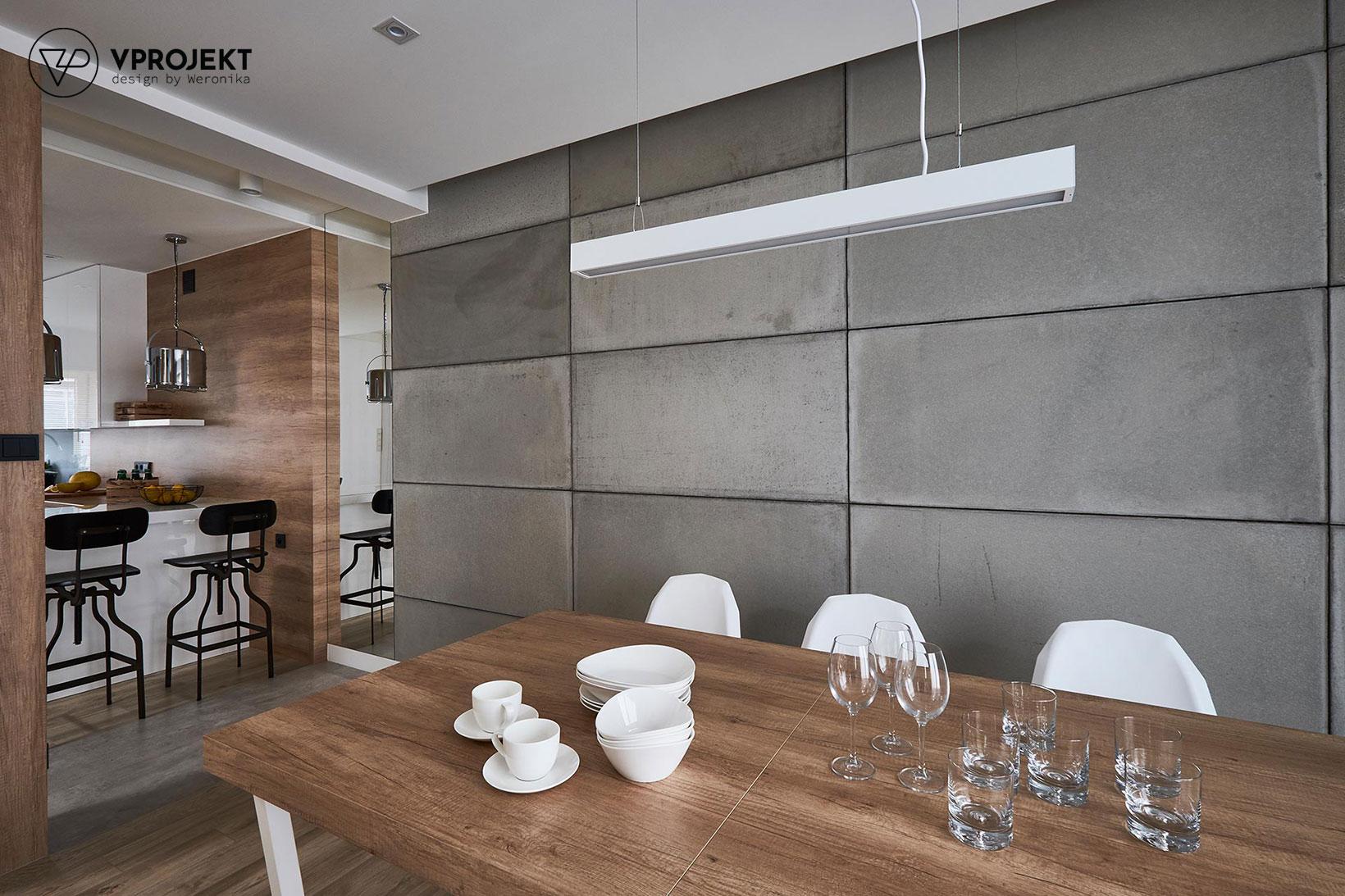 Przestrzeń jadalniana, dom w Ostródzie