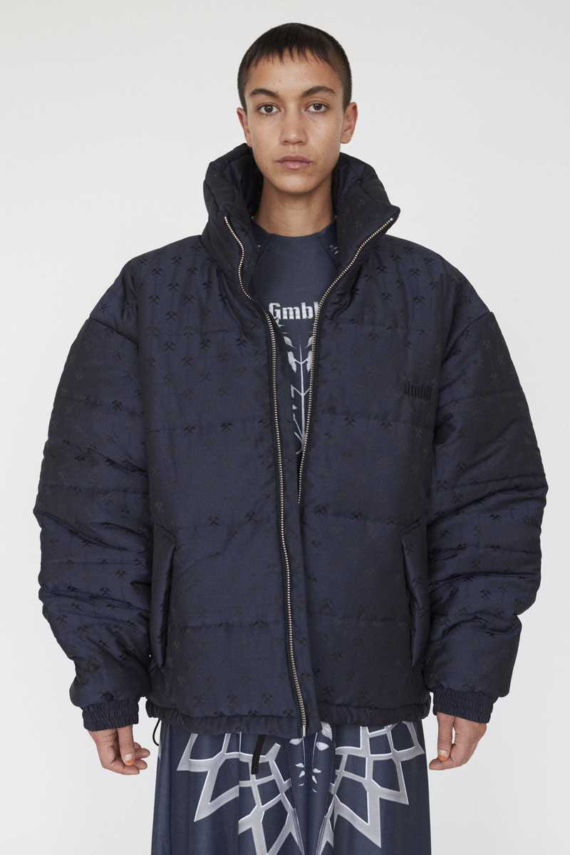 GmbH AW19 DEBS PUFFER JACKET NAVY FRONT