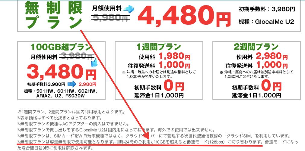 NOZOMI WiFi通信制限