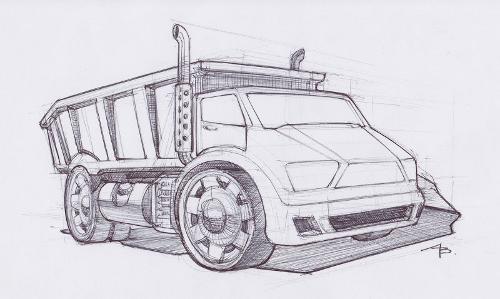 Dump Truck Sketch