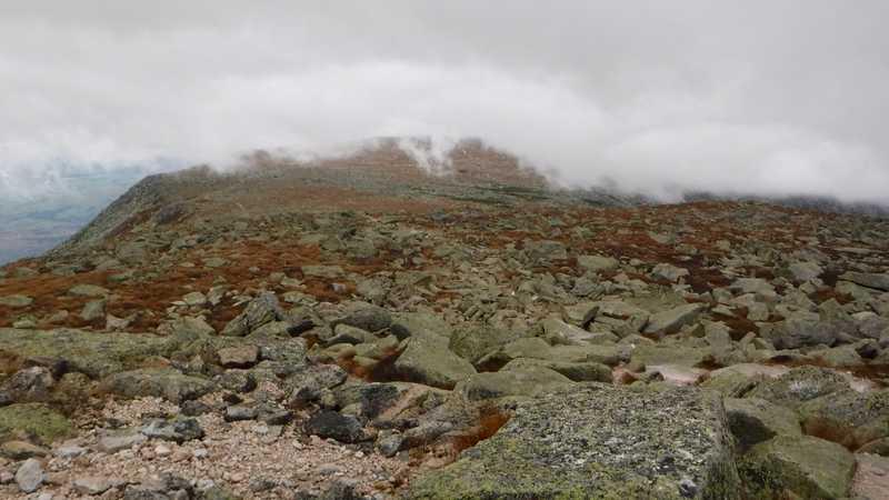 Clouds surround summit of Mt. Katahdin