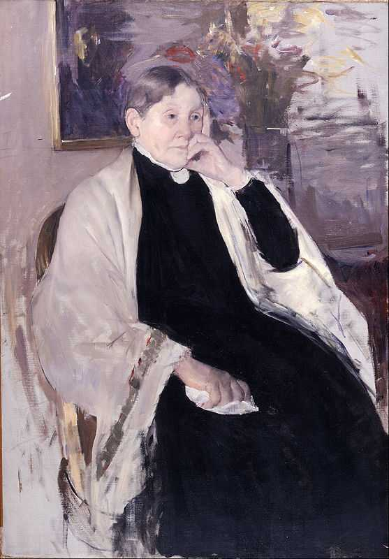 'Mrs. Robert S. Cassatt, the Artist's Mother' painted by Mary Cassatt (1844-1926) in 1889