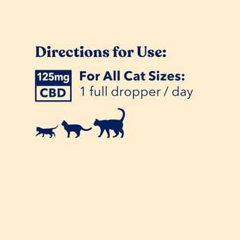 directions for use - cbd oil for cats