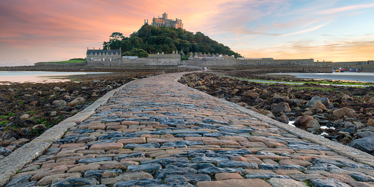 clear path leading St Michaels Mount