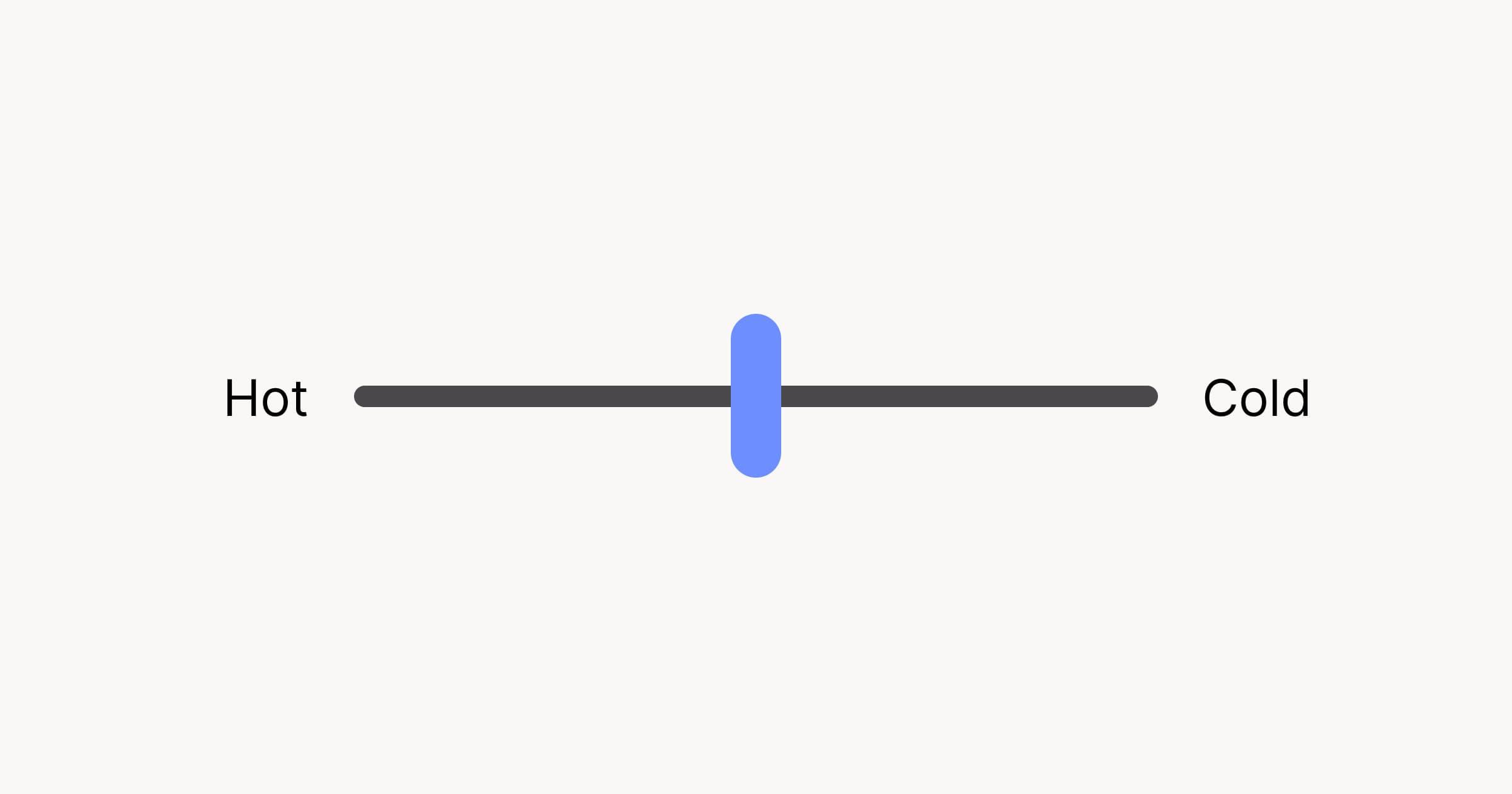 An example of a range input