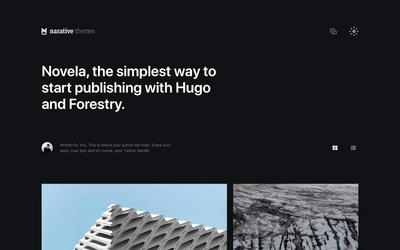 Screenshot of a page created with Hugo Novela with Forestry