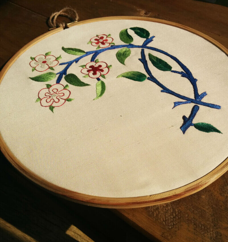 A silk shading based on a William Morris design