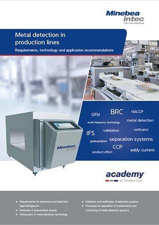 catalog Minebea detectoare de metale - linii de producție