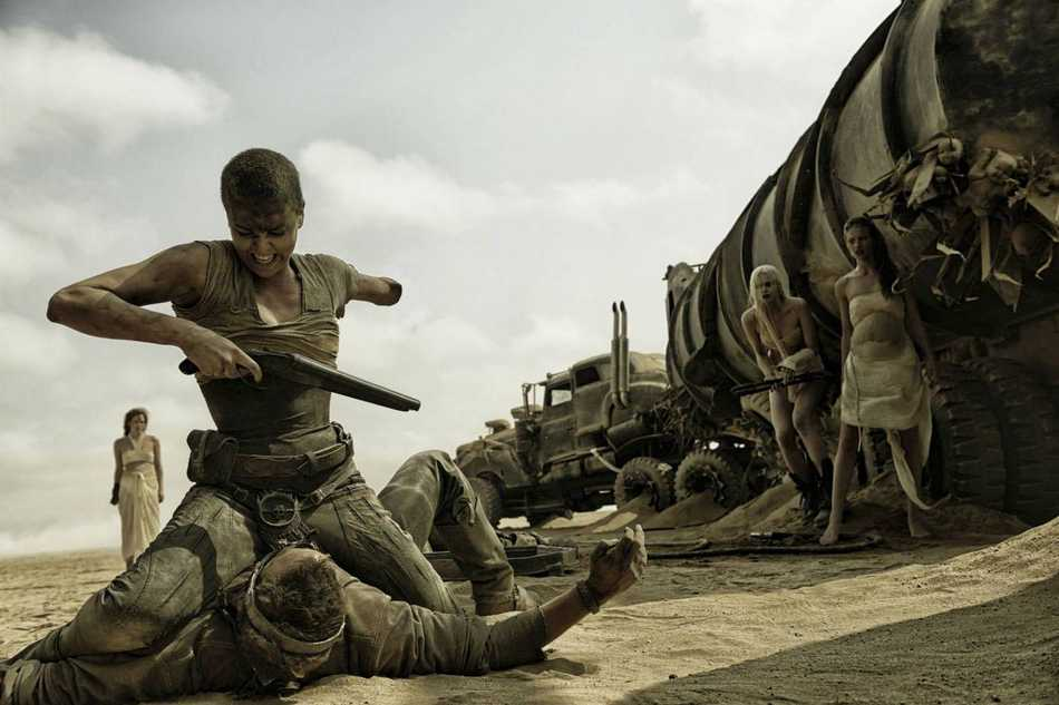 Charlize Theron takes down Mad Max