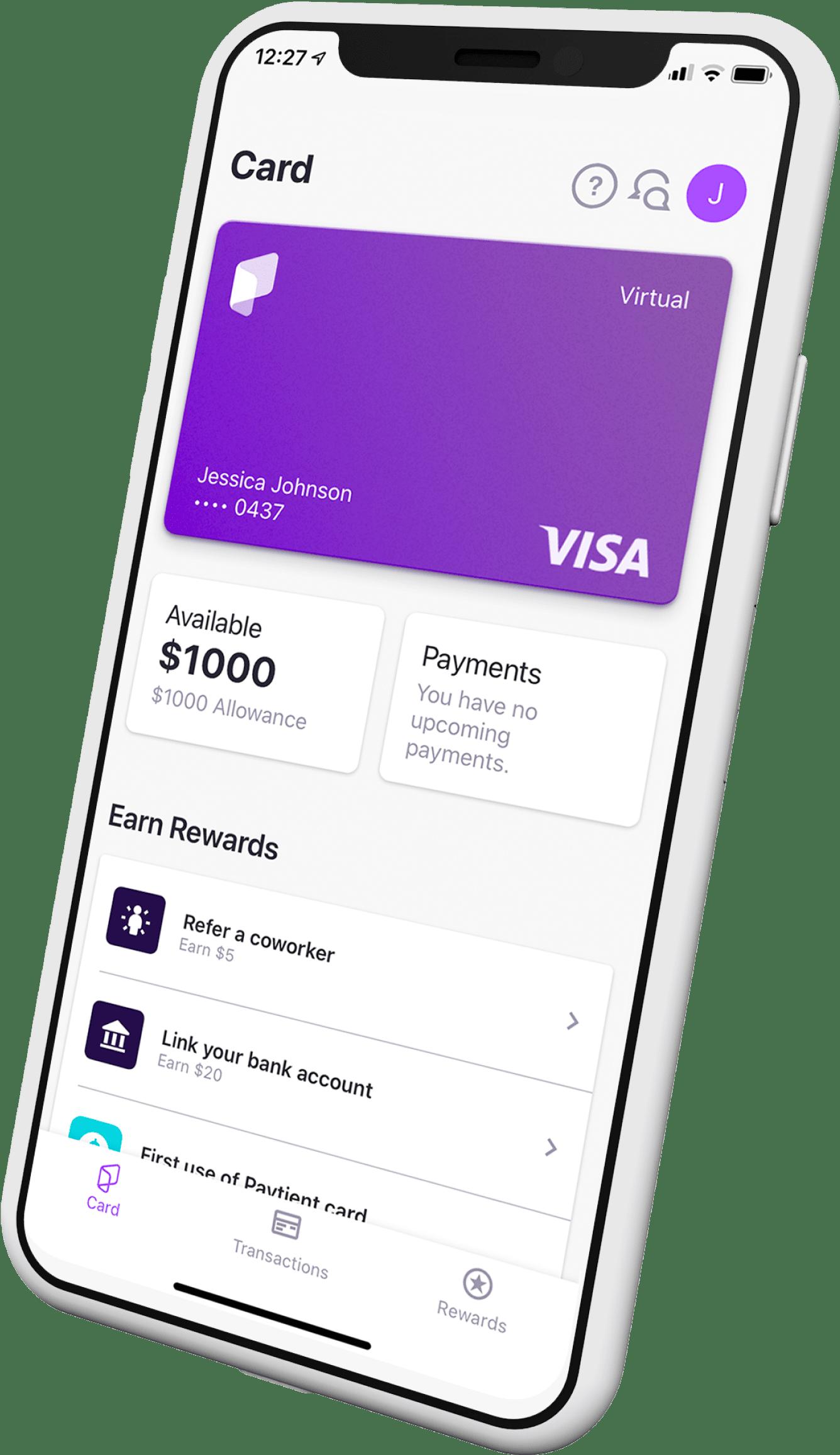 Paytient mobile app