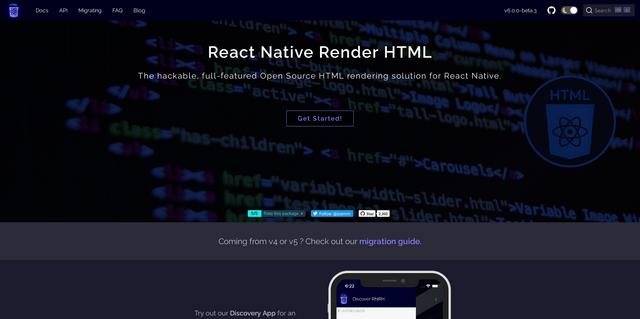 React Native Render HTML