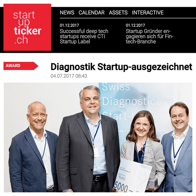Diagnostik Startup-ausgezeichnet · Resistell AG