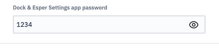 Dock & Empty Settings App Password