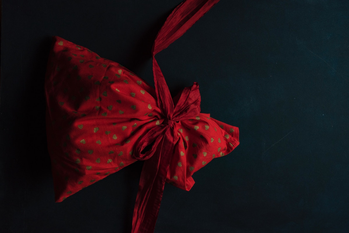 bolsa de tela de regalo