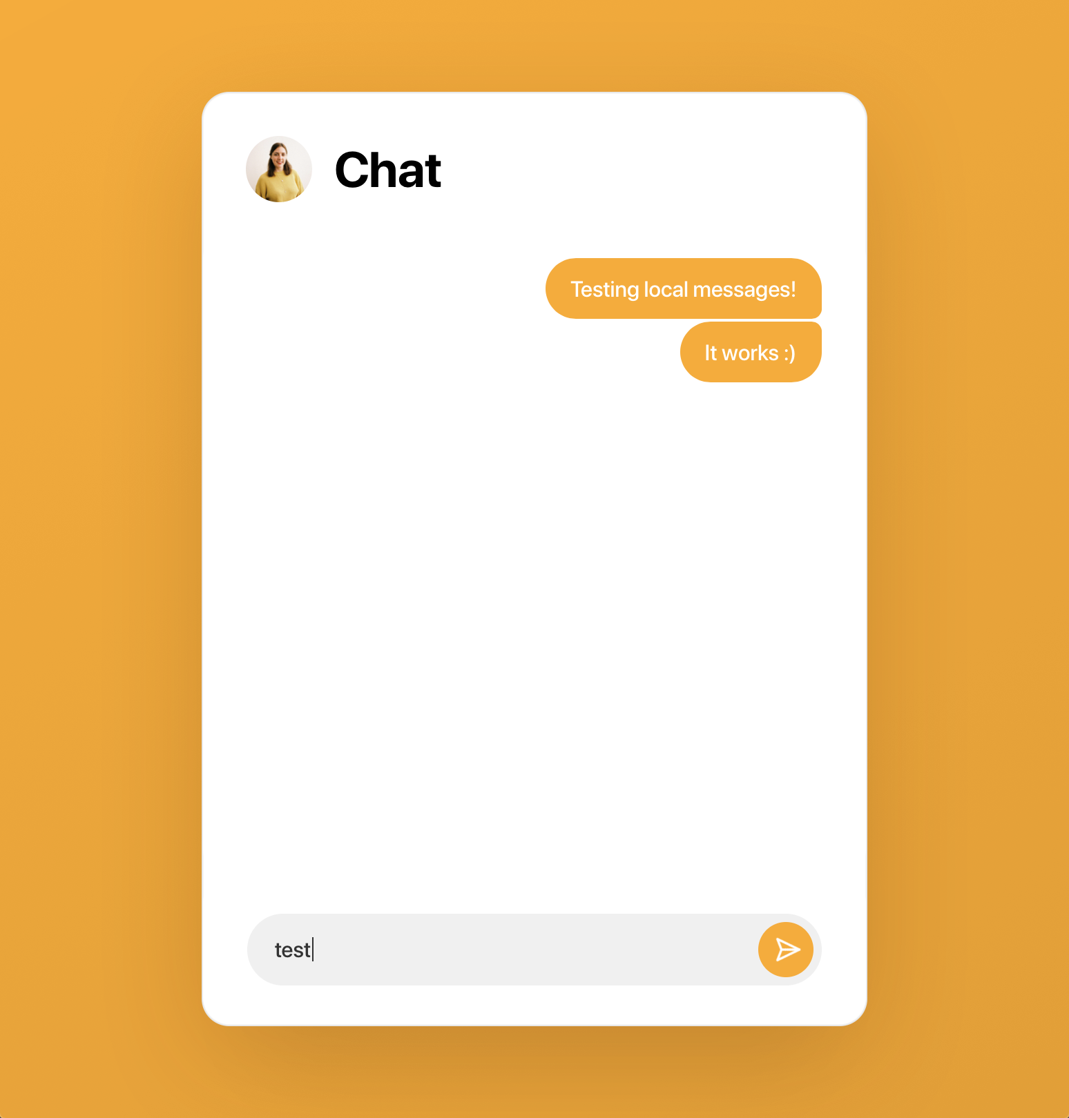 Testing the chat prototype