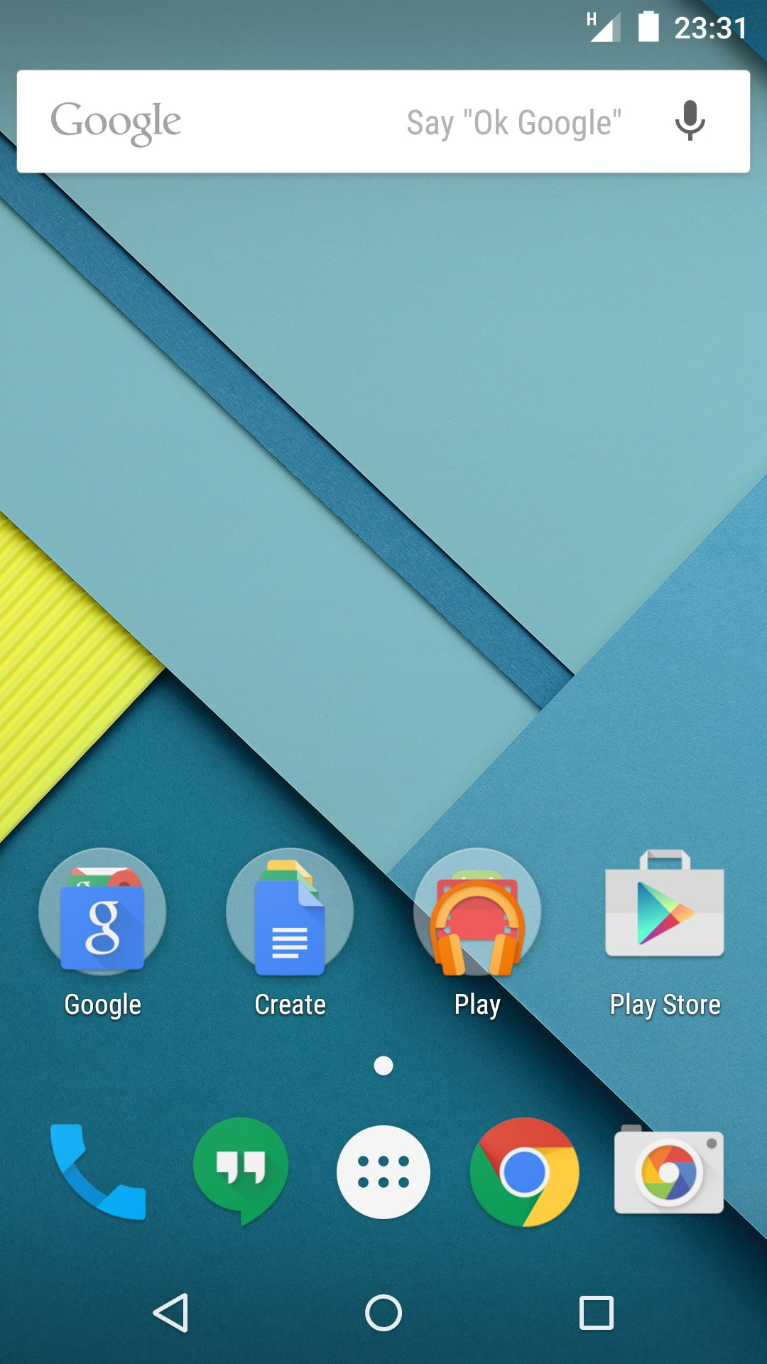 Android Lollipop - Stock Interface