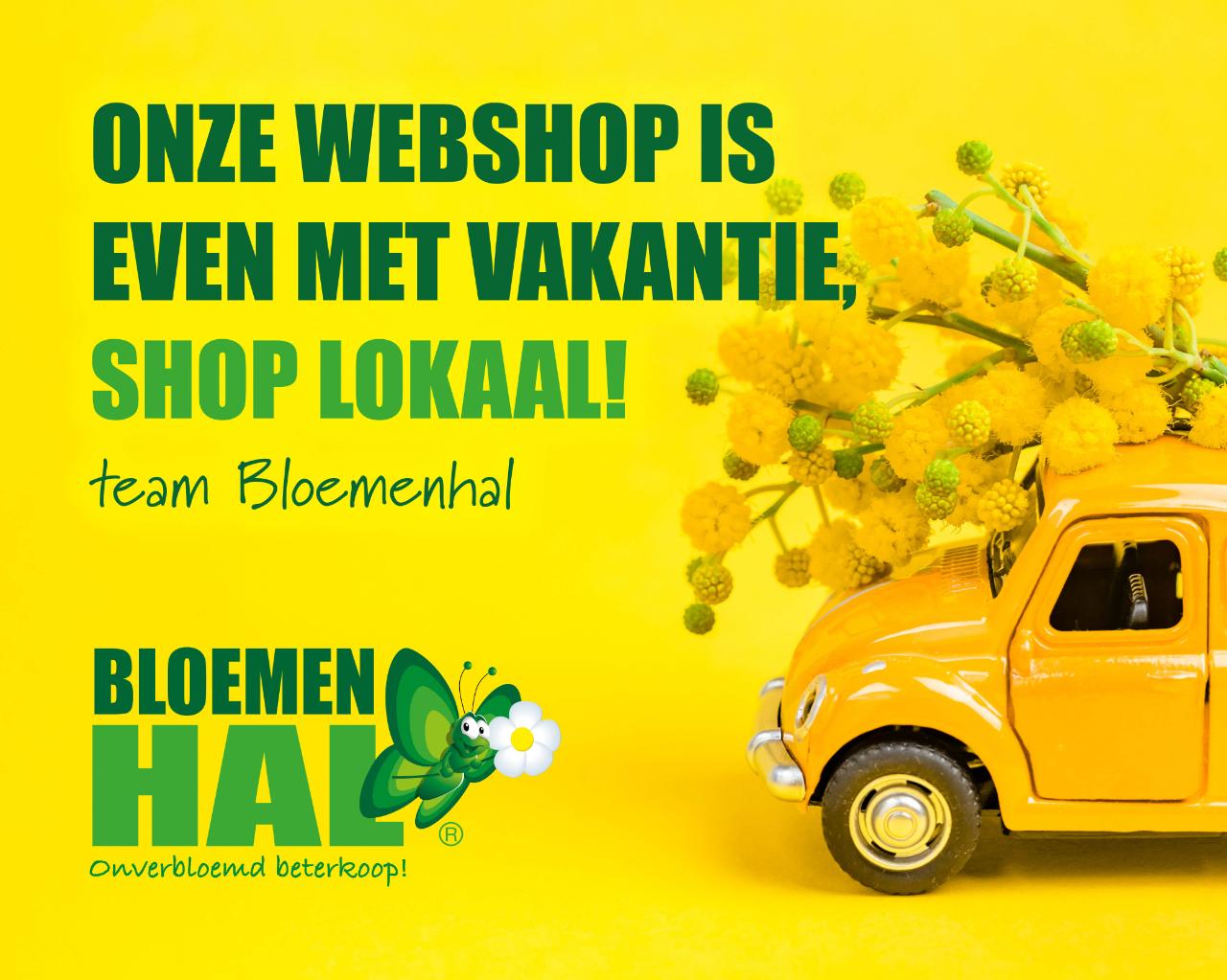 Onze webshop is even met vakantie, shop lokaal!