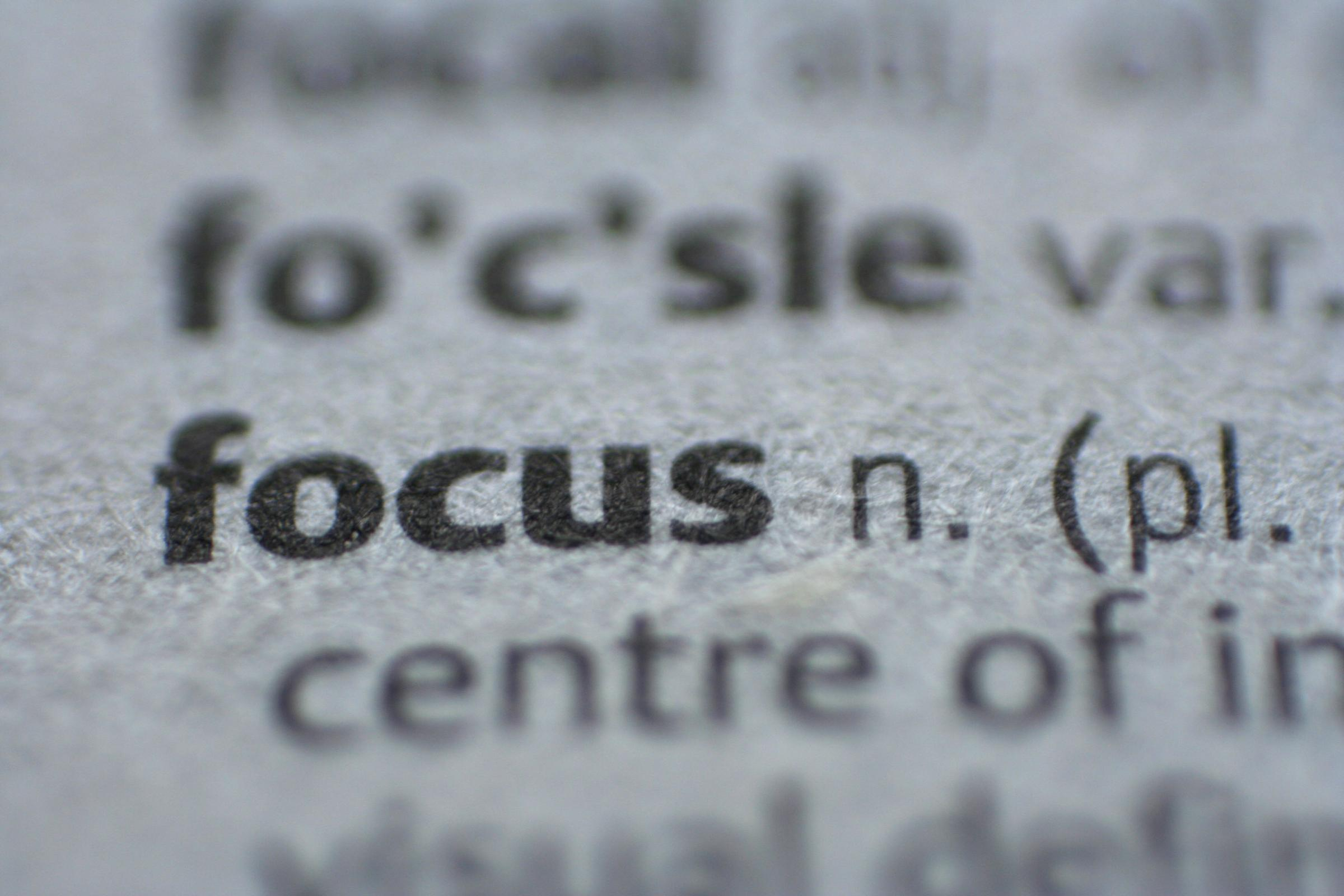 """Key art for blog post """"'Focusing' on the Web Today """""""