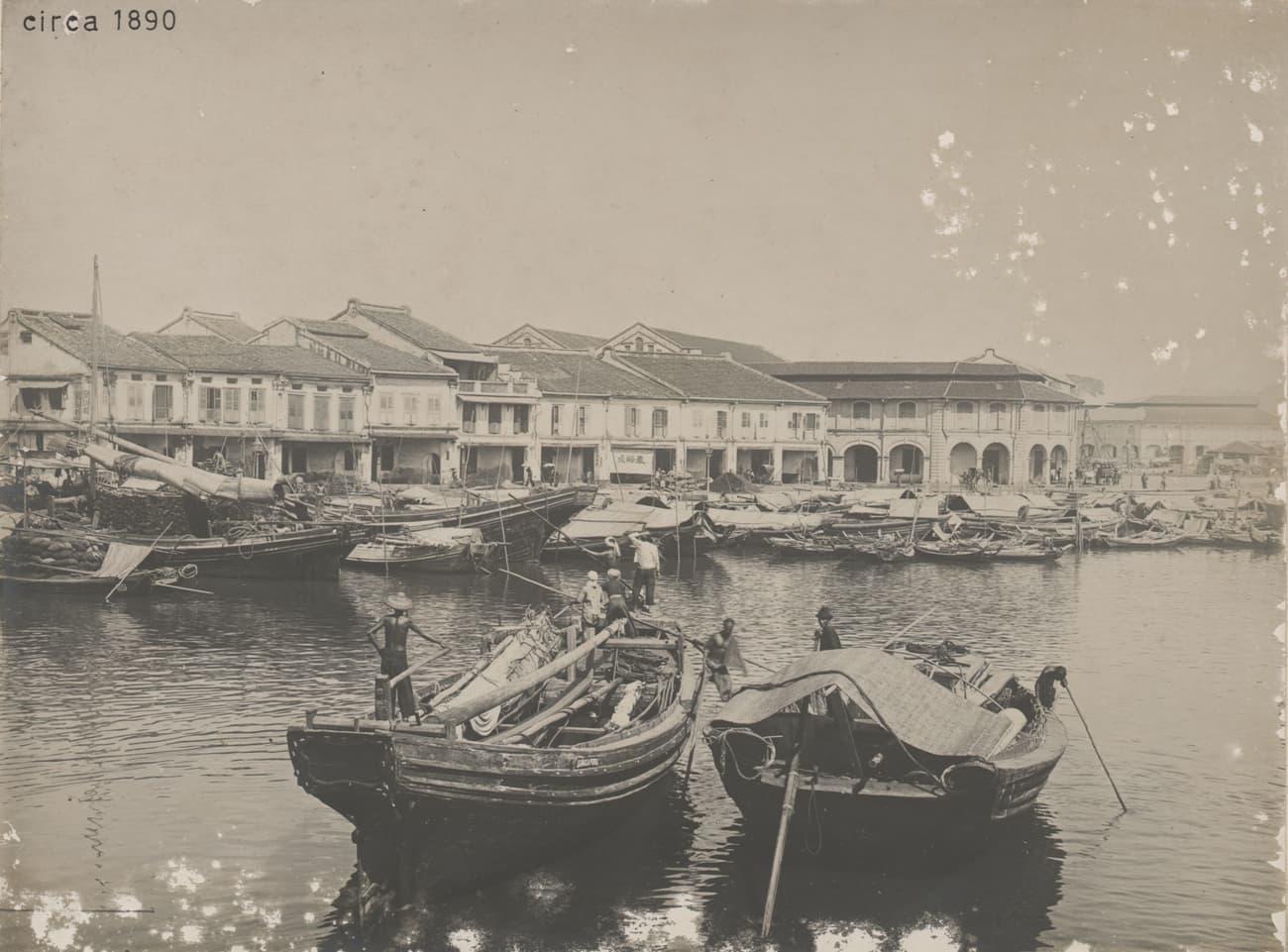 Singapore River near Clarke Quay, 1890s