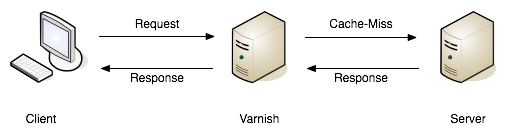 A request failing to find a match (a.k.a cache miss), and being passed on to the API server to fulfill. -- book.varnish-software.com