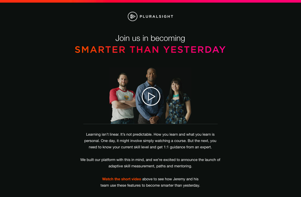 Pluralsight email