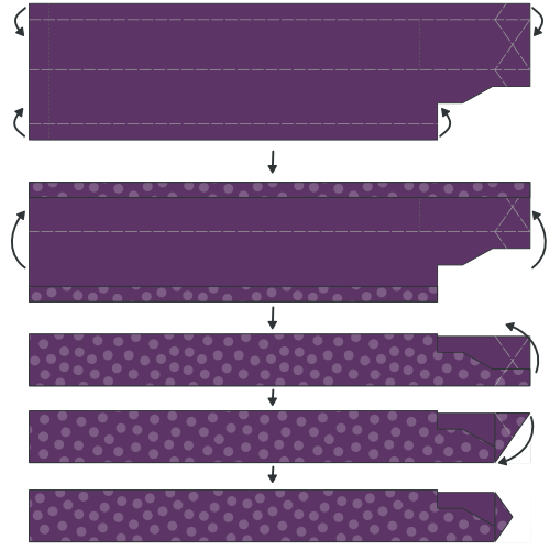 Fold and press the placket
