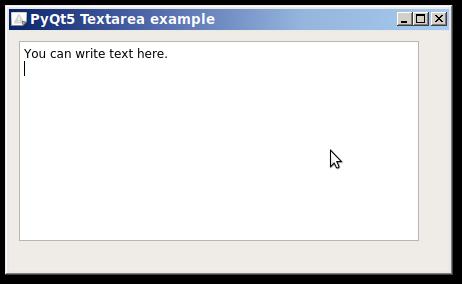 pyqt textarea | Python Tutorial