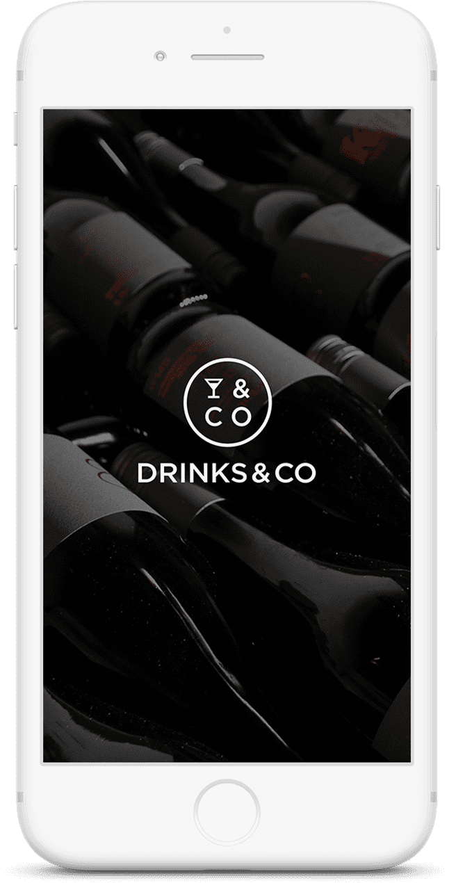 Drinks & co site featured on mobile device
