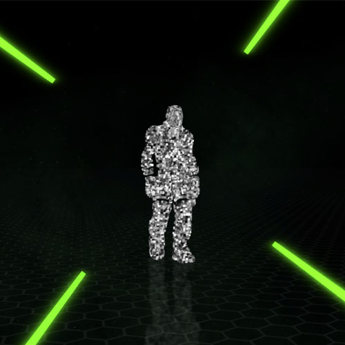 Dude Boss Particle Shooter