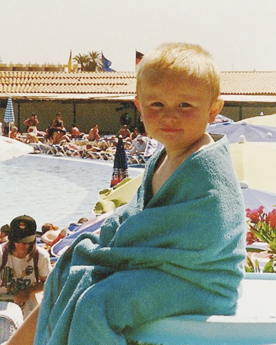 A young Jack Watkins on holiday