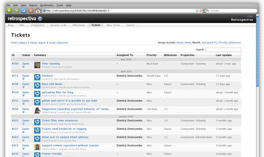 Retrospectiva, outil de gestion de projet Open Source