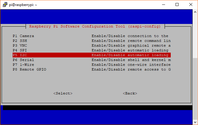 Enabling I2C