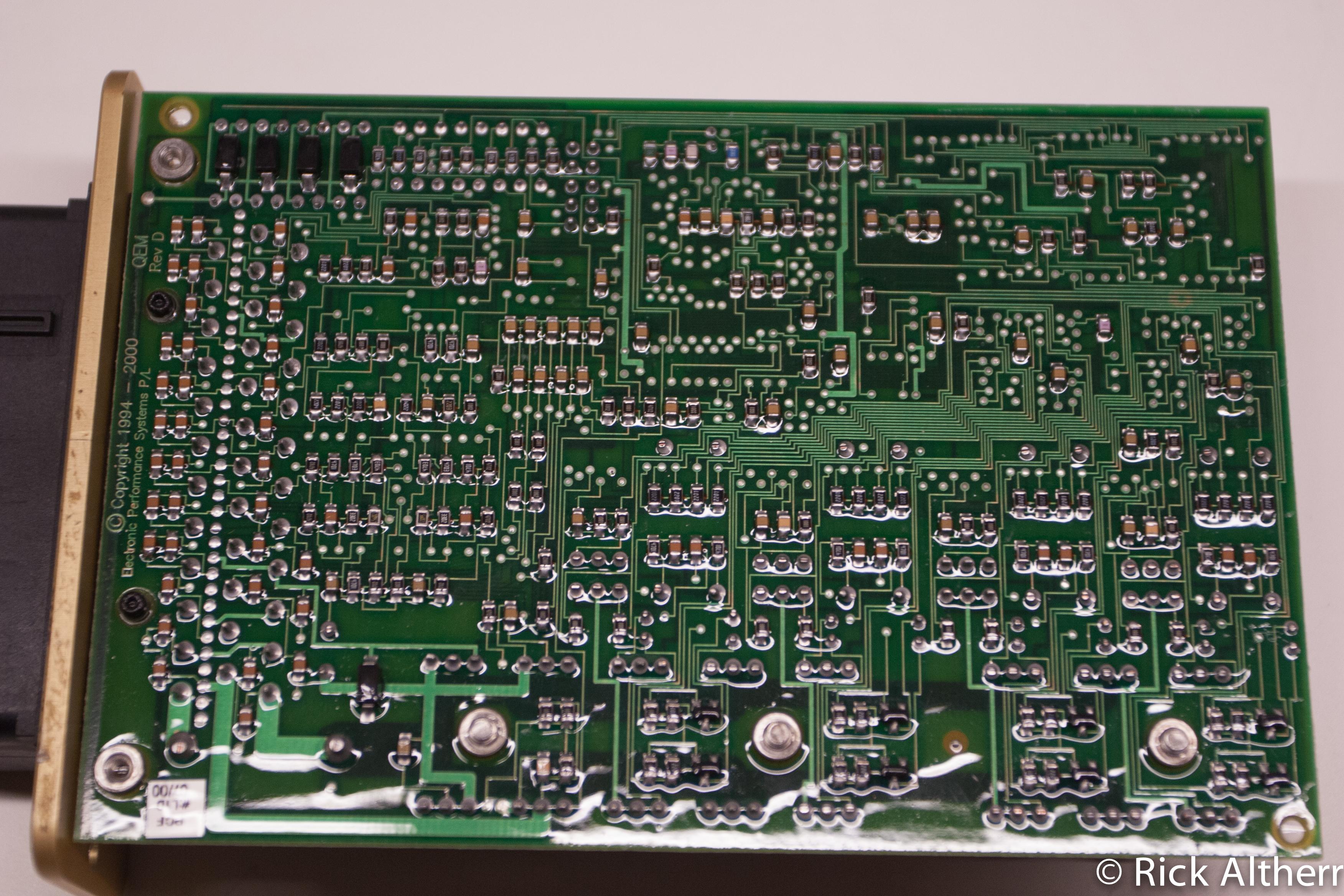 Solder side of MoTeC M48 PCB
