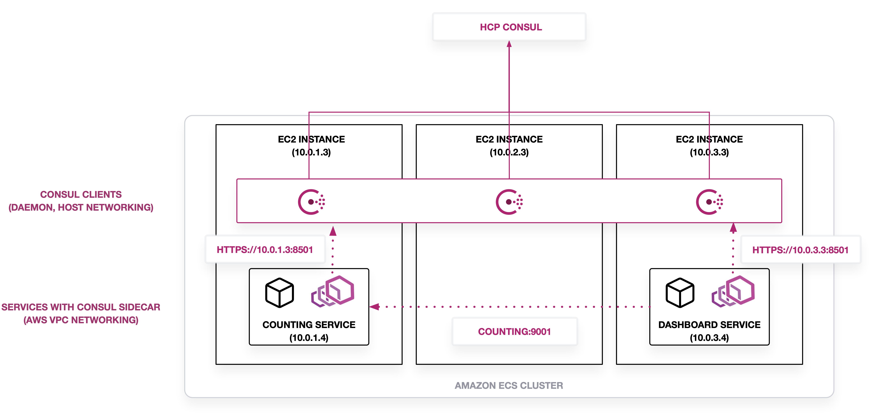 Amazon ECS using EC2 Instances with Consul