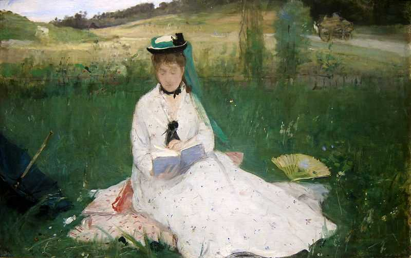 'Reading' painted by Berthe Morisot in 1873, Cleveland Museum of Art