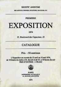 The cover of the catalog of the first impressionist exhibition in 1874