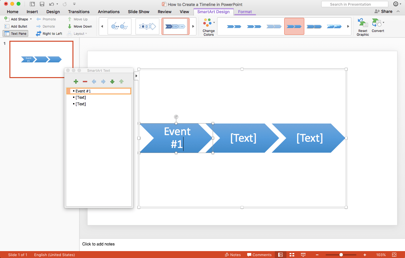 How to create a timeline in powerpoint in 5 steps teamgantt powerpoint timeline template step three add or rearrange events toneelgroepblik Choice Image