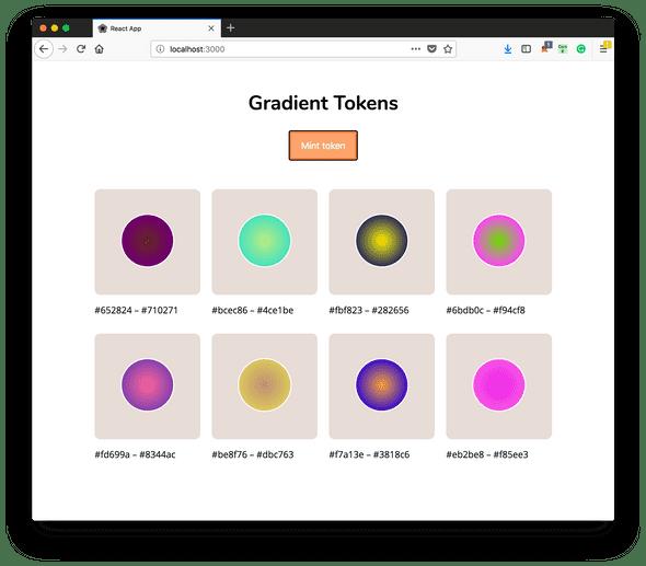 gradient token app preview