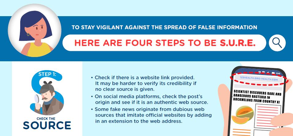 We have a new e-Presentation and new infographic on applying the four S.U.R.E. steps to verify dubious information.