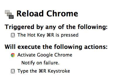 Reload Chrome