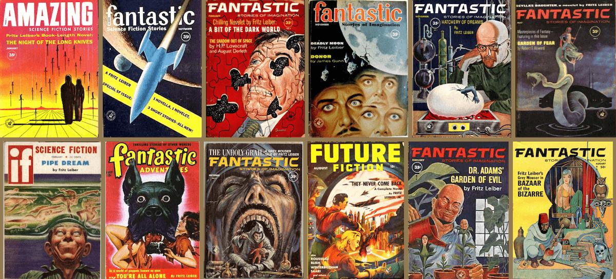 Рассказы Лейбера на обложках журналов. Источник: wikipedia.org