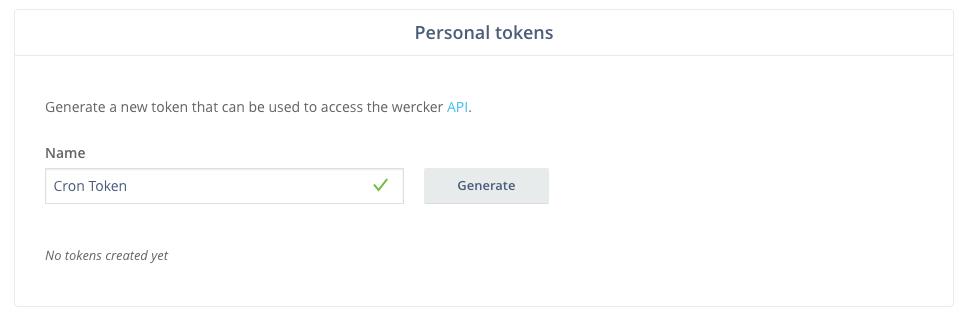 Generate Wercker token