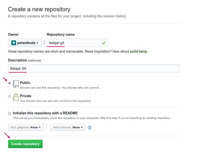 Membuat Repository di Github