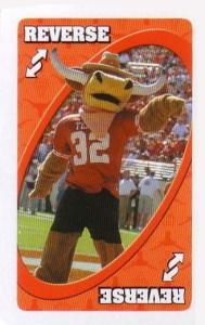 University of Texas Orange Uno Reverse Card