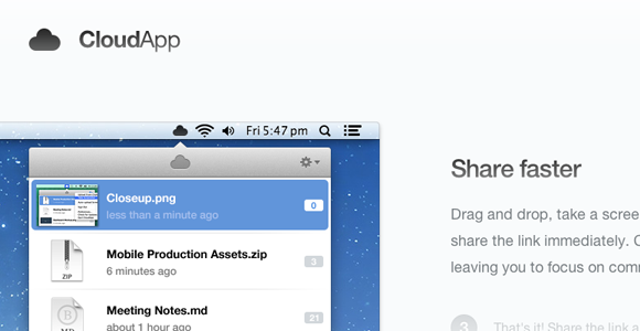cloudapp share images