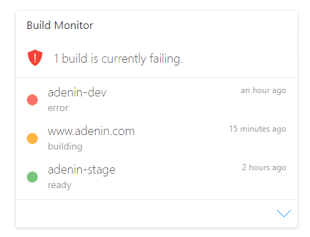 See the status of your Netlify builds at a glance