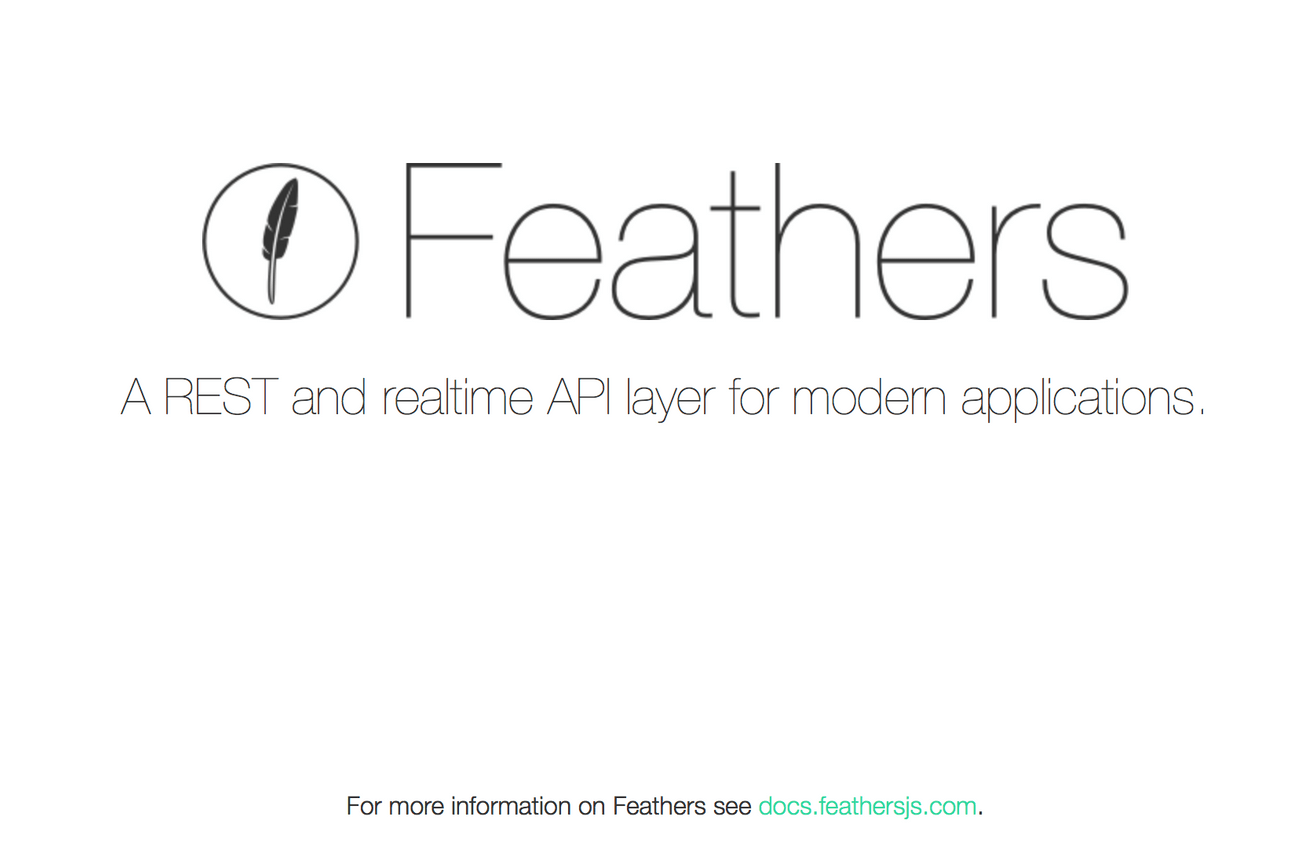 Feathers welcome page