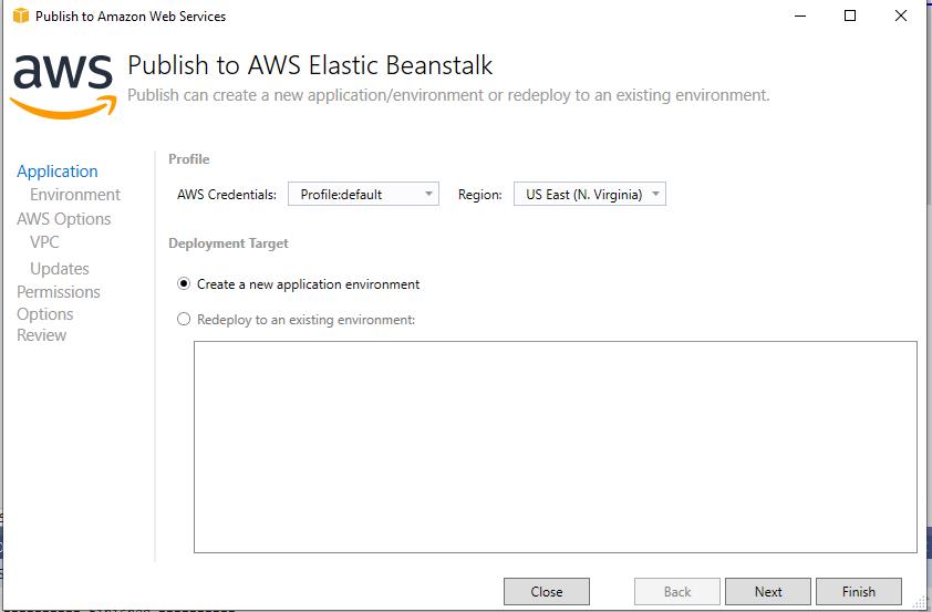 Publish to AWS Elastic Beanstalk