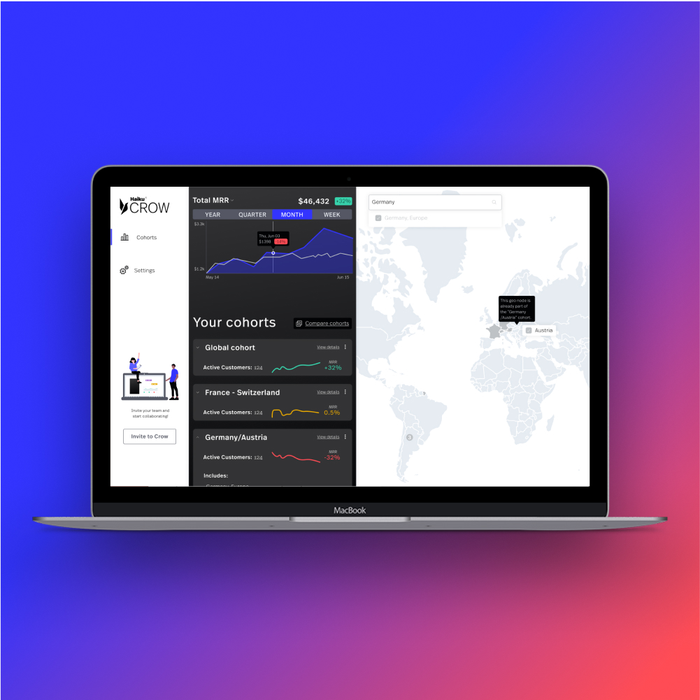 Product design and marketing website for strategic pricing web app aimed towards marketing and sales teams.
